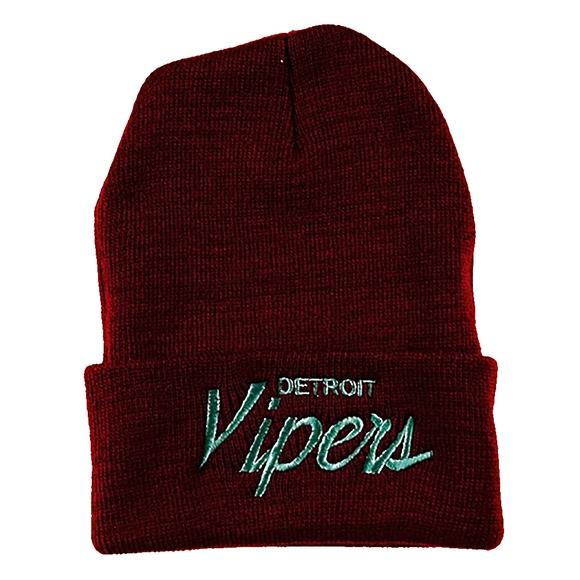 fef2deec152 Detroit Vipers Maroon Script Beanie